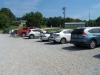 Busy Saturday at Pontotoc trail parking area